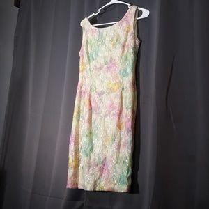 Studio One Pastel Floral Sequins Dress SZ 6